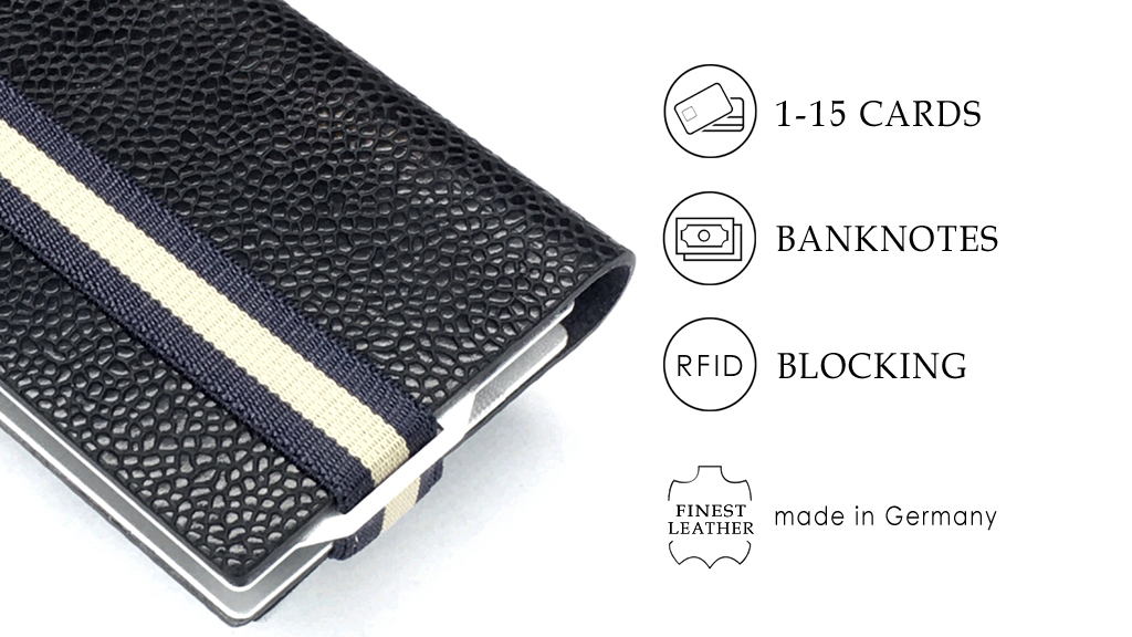Shows and lists all advantages of the Q7 WALLET the