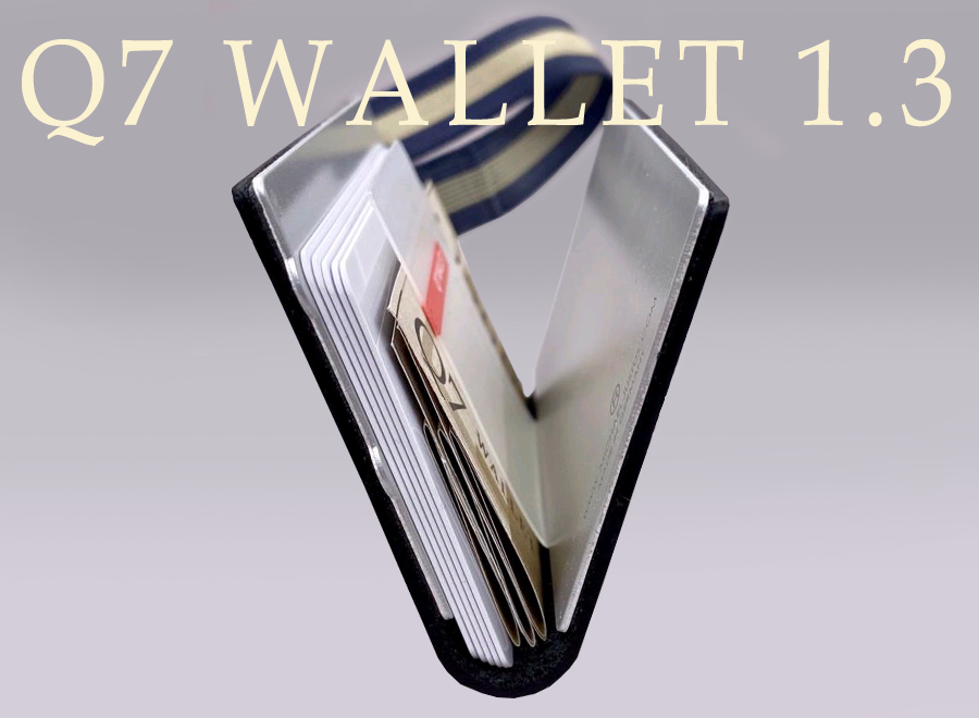 This photo shows the card holder Q7 WALLET in the open view.